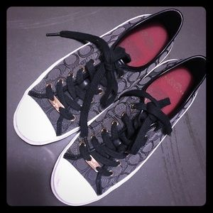 COACH | Black Lace-Up Shoes | Size 8